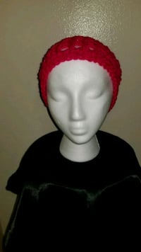 Pink crocheted slouchy hat Mulberry, 33860