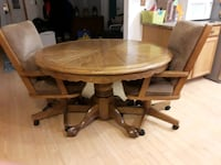DINING TABLE-SOLID OAK