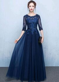 BRAND NEW NAVY LACE AND NET GOWN DRESS Mississauga, L5R 1Y7