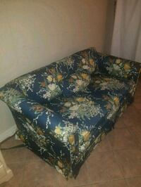 Blue and green floral fabric sofa  Manassas
