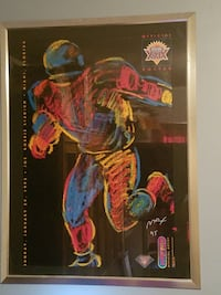 SUPER BOWL XXIX: SIGNED&FRAMED PETER MAX POSTER-LIMITED EDITION! ADAIRSVILLE