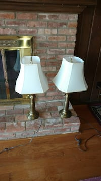 two white table lamps with white lampshades Winston-Salem, 27105
