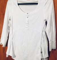 Large Lu Lu Lemon White long sleeve Shirt