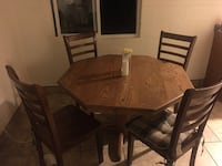 rectangular brown wooden table with six chairs dining set Reno, 89512