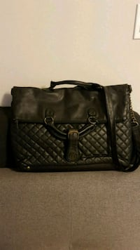 black leather 2-way handbag Gatineau, J8X 3J6