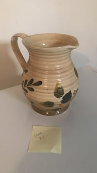 brown floral ceramic pitcher Penfield, 14526