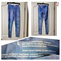 Blue innerfire leggings size 4  excellent condition  Port Coquitlam, V3B 3V7