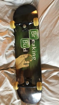 Mint condition deck and brand new trucks and mint wheels and reds baring pro complete breaking bad deck mini logo wheels and trucks  Toronto, M2H 1T6