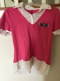 Pink and white collared shirt (kids) Clarksburg, 20871