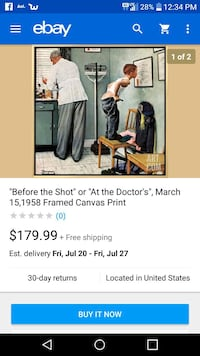 Before the shot. Canvas 1958 photo NORMAN ROCKWELL Knoxville, 37915