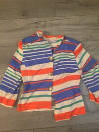 blue, red, and white striped cardigan Victoria, V8X 1W1