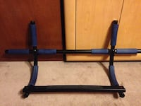 Black and blue pull up bar for door Langley, V3A 4E4