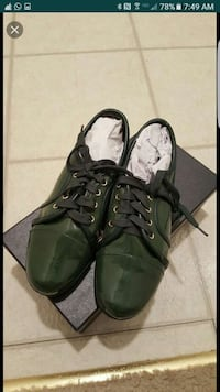 Green leather shoes size 7 Alexandria, 22304