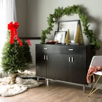 Black-finish Buffet/Dining Server| SKU# 48166- 2263 mi