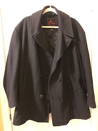 Men's large black pea coat