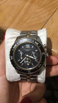 Silver and gold Nautica watch Montréal, H1X 1Y7