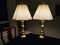Two black-and-white table lamps Clackamas, 97015