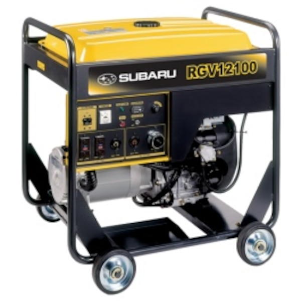 black and yellow Champion portable generator
