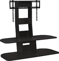 black wooden TV stand with mount Montréal