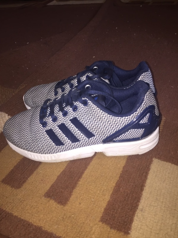 3bc611382 Used Grey and blue adidas zx fluxes for sale in London - letgo