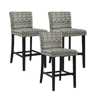 Morocco Upholstered Counter Stools (Set of 3)by Linon