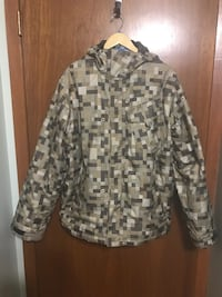 Gray and black camouflage button-up jacket Saskatoon, S7L