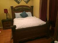 brown wooden bed frame and white mattress Bristow, 20136