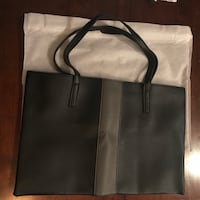 Vince Camuto Black and gray leather tote bag Quincy, 02169