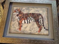 13X11.5 (inches)Tiger wall art/frame Fresno, 93726