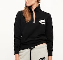 Roots Quarter Zip Logo Polo Sweater