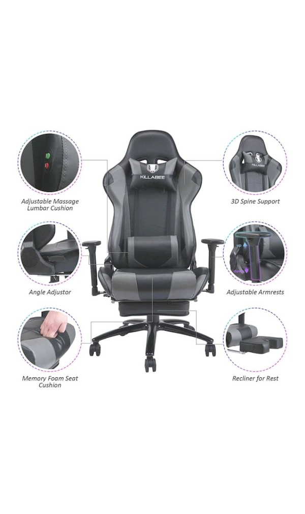 Massage Gaming Chair Racing Office Chair   27c9f0f3-9388-4644-9c23-905f7a6db0d1