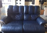Blue love seat and massage chair