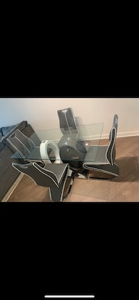 Dining table set grey and white