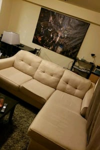 white leather 2-seat sofa College Park, 20740