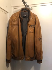 Brown leather zip-up jacket Mississauga, L5G 3X6