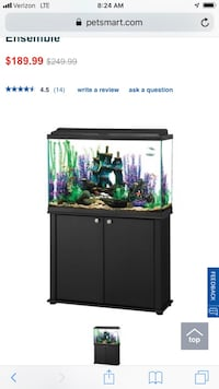 black and gray framed glass fish tank screenshot Frederick, 21701
