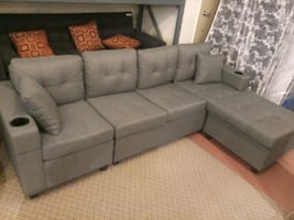 Sectional sofa with cupholders