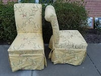 two floral parson chairs