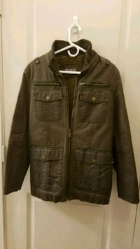 brown leather zip-up jacket Rockville, 20850