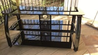 Entertainment System Stand, Black break resistant glass.  North Augusta, 29841