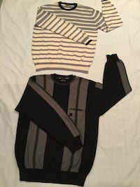 Men's sweaters size XL both made in Italy Mario Gilberto and Nautica both for $39 Clifton, 07013
