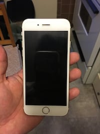 silver iPhone 6 with black case Edmonton, T5N 1R2