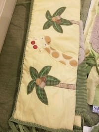 Mint Green and Yellow Jungle Themed Crib Bedding Charlotte, 28215