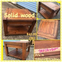 Solid wood side/end table 1121 mi