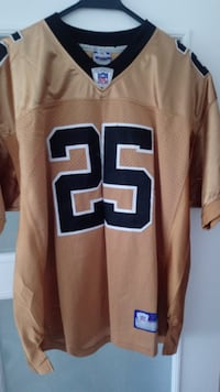 REEBOK NFL EQUIPMENT NUMBER 25 BUSH JERSEY IN BRONZE