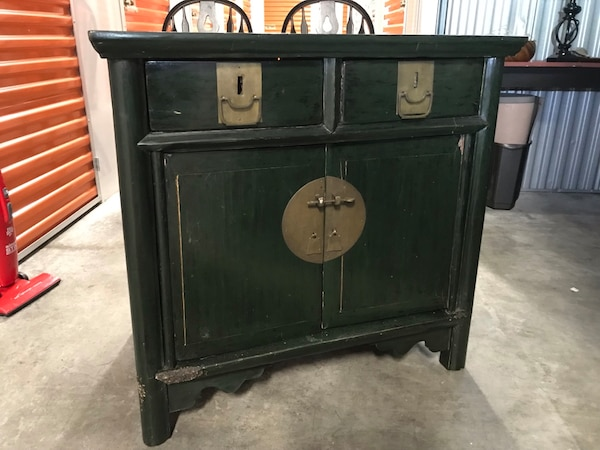 Asian side table / cabinet with 2 drawers