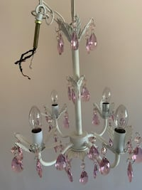 "White Chandelier with Pink ""Crystals"" Lorton, 22079"