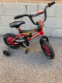 "$45 for 12"" half Disney cars bike with training wheels bicycle Toronto, M9W 2A3"