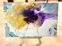 Small Abstract Painting called 'Orchid' Delta, V4E 2Y2