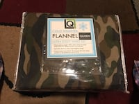 Queen Size Flannel Camouflage Sheet Set - New! $18 Firm Raleigh, 27604